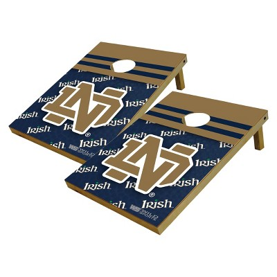 Notre Dame Fighting Irish Wild Sports Platinum Shield Cornhole Bag Toss Set - 2x3 ft.