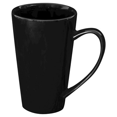 Ten Strawberry Street Oversized Latte Mug Set of 4 - Black