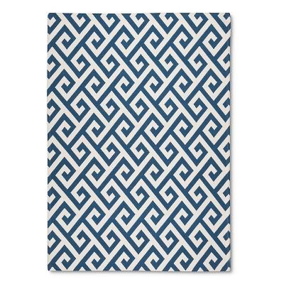 Threshold™ Indoor Outdoor Flatweave Greek Key Area Rug - Sandoval Blue/Shell (7'X10')