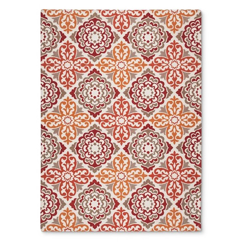 Threshold™ Indoor Outdoor Flatweave Medallion Rug Tar