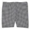 Toddler Girls' Striped Bike Short - Black/White