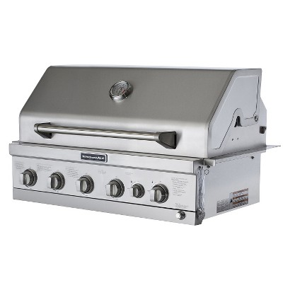 Kitchenaid 4 Burner Built In Stainless Steel Propane Gas Island Grill Head With Searing Main