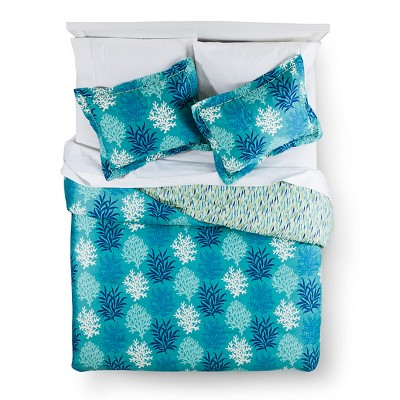 Comforter Set Waverly QUEEN Blue
