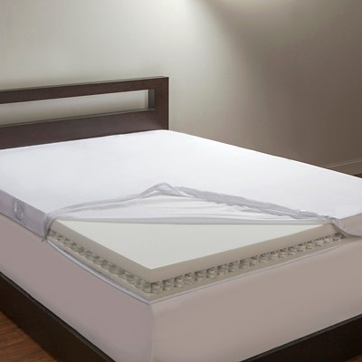 "Comfort Revolution 4"" Hybrid Memory Spring Mattress Topper - White (King)"
