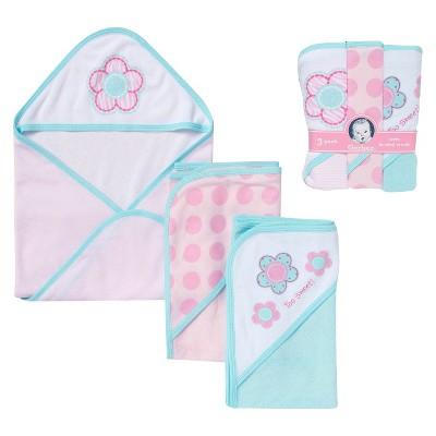 Gerber® Newborn Girls' 3-Piece Bath Set