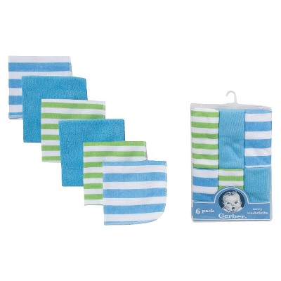 Gerber® Newborn Boys' 6-Pack Washcloths