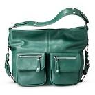 Women's Hobo Handbag with Zipper Pockets