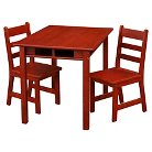 Kids' Rectangular Table and Chair Set - Casual Home