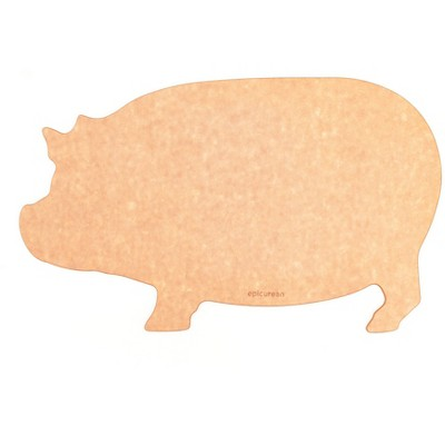 Epicurean® Composite Cutting Board Pig Shape Brown