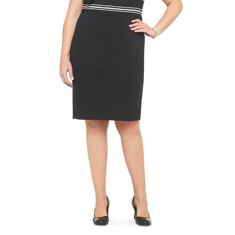 s plus size ponte pencil skirt black merona 174