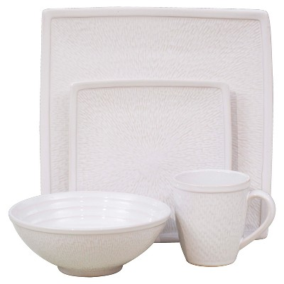 Sango Galaxy 16 Piece Dinnerware Set - White
