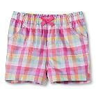 Toddler Girls' Plaid Shorts - Plaid