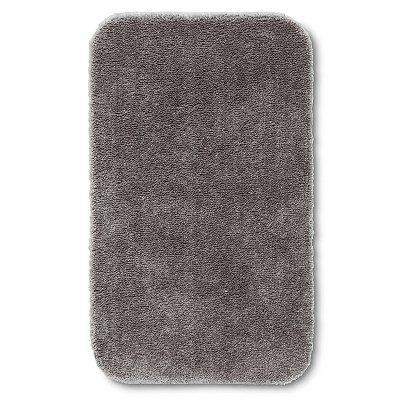 "Room Essentials™ Bath Rug - Flat Gray (20x34"")"