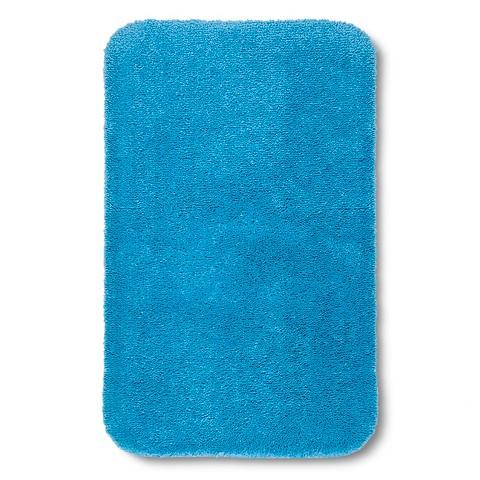 Model Washable Blue Bathroom Rugs Extra Large  Contemporary  Bath Mats