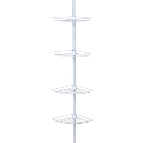 Zenna Home 4-Tier Adjustable Rust-Resistant Bathtub & Shower Tension Pole Caddy