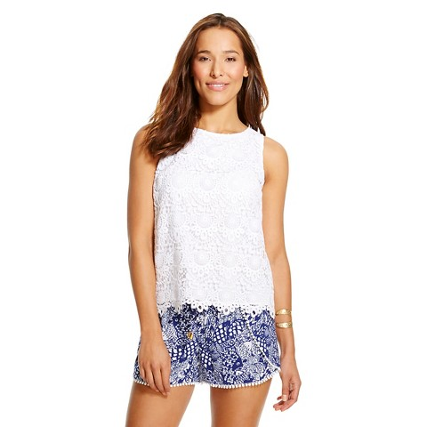 Lilly Pulitzer for Target Women's Crochet Tank Top - White