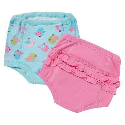 Gerber® Newborn Girls' 2 Pack Training Pants 2T/3T