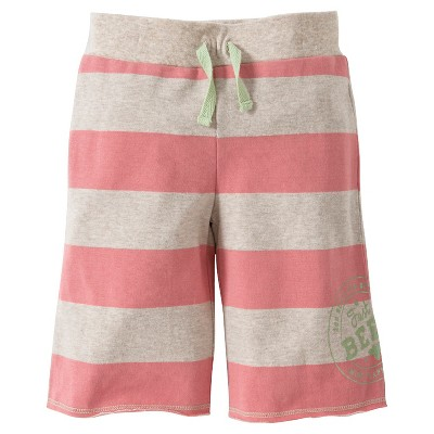 Toddler Girls Rugby Stripe Lounge Short - Primrose Pink 5