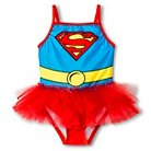 Supergirl Toddler Girls' 1-Piece Swimsuit - Red