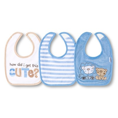 Gerber® Newborn Boys' 3 Pack Terry Bib Set