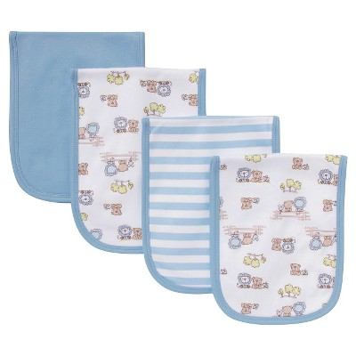 Gerber® Newborn Boys' 4 Pack Burp Cloth Set