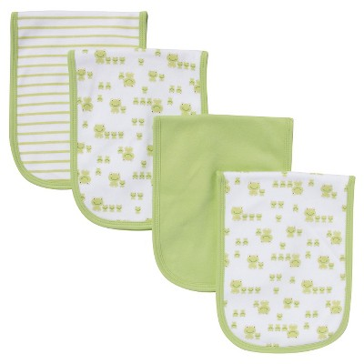 Gerber® Newborn 4 Pack Burp Cloth Set - Green