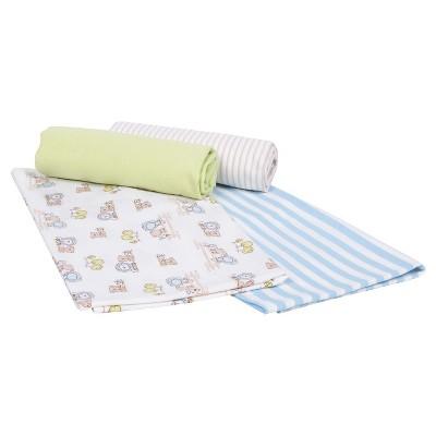 Gerber® Newborn Boys' 4 Pack Flannel Blankets