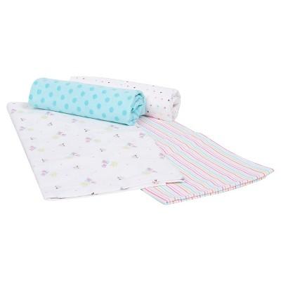 Gerber® Newborn Girls' 4 Pack Flannel Blankets