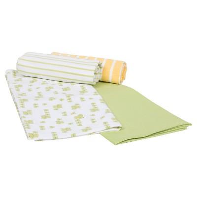 Gerber® Newborn 4 Pack Flannel Blankets