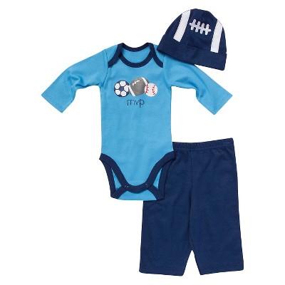 Gerber® Newborn Boys' 3 Piece Set - Dark Blue 3-6 M