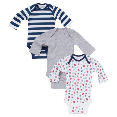 Gerber® Newborn Boys' 3 Pack Long-sleeve Sports Onesie® Set 3-6 M