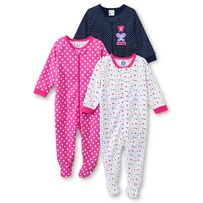 Gerber® Newborn Girls' 3 Pack Butterfly Sleep N' Play 0-3 M