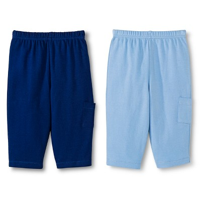 Gerber® Newborn Boys' 2 Pack Pants - Blue 0-3 M