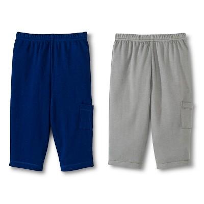 Gerber® Newborn Boys' 2 Pack Pants - Grey/Navy 9 M