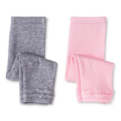 Gerber® Newborn Girls' 2 Pack Legging Pants - Pink 0-3 M
