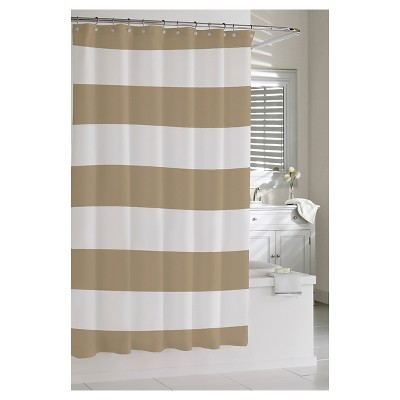 Kassatex Hampton Stripe Shower Curtain - Linen