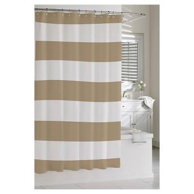 Kassatex Hampton Stripe Shower Curtain - Linen