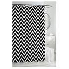 Kassatex Chevron Shower Curtain - Black/White