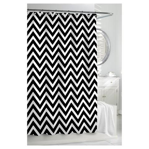 Kassatex Chevron Shower Curtain Black White Target