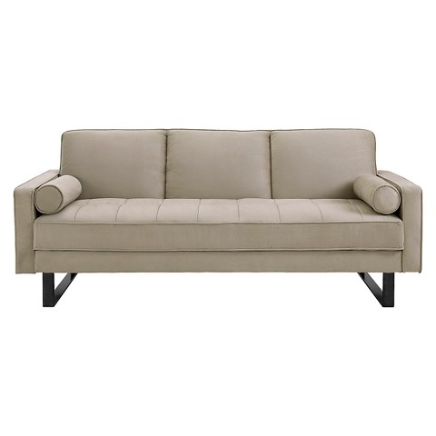 Harper Convertible Sofa Brown Serta Tar