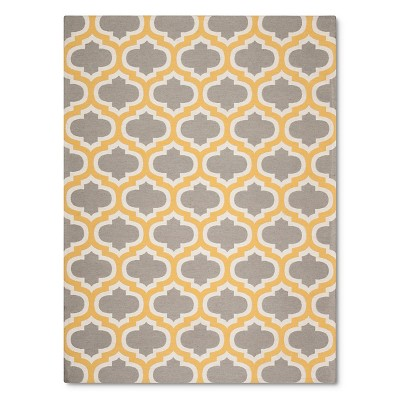 Threshold™ Indoor/Outdoor Flatweave Fretwork Area Rug - Yellow (5'x7')