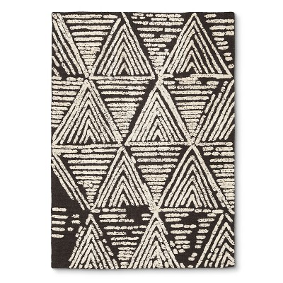 Nate Berkus Raised Geometric Area Rug - Charcoal (7'x10')