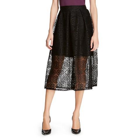 s laced midi skirt black mossimo target