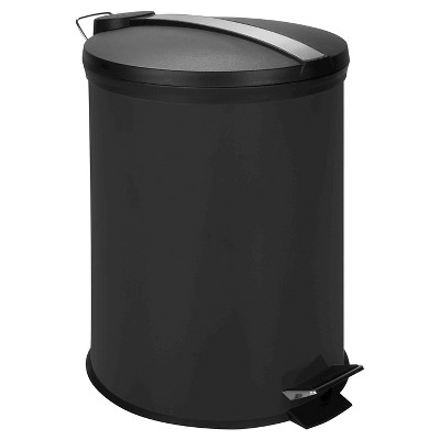 Ecom Trash Can With Lid Black Round 12liter Honey-Can-Do