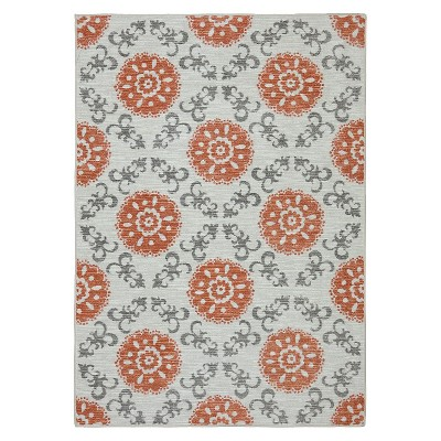 Threshold™ Medallion Area Rug - Coral (5'x7')