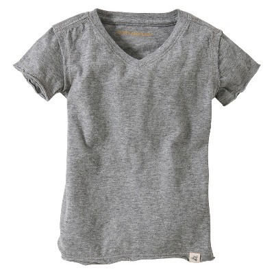 Toddler Boys' Reverse Seam V-Neck Tee - Heather  Gray 2T