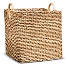 Threshold™ Square Decorative Woven Basket with Round Wood Handles