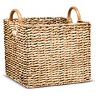 Threshold™ Rectangle Decorative Woven Basket with Round Wood Handles