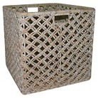 Threshold™ Wicker Whitewash Large Square Basket