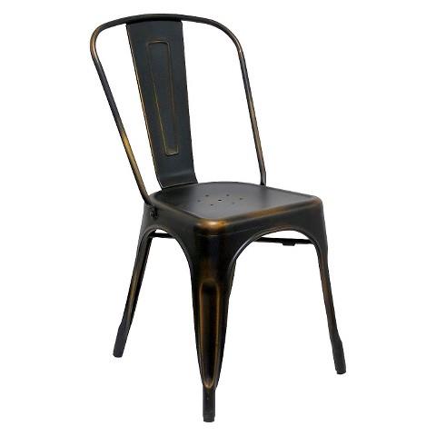 garvin dining chair galvanized steel set of 2 target